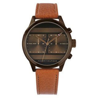 Tommy Hilfiger 1791594 Icon Men Brown Dial Tan Leather Strap