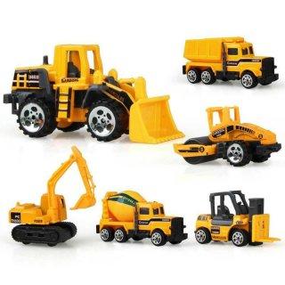 Mainan Mobil-mobilan Truck Konstruksi Diecast Anak 6PCS - CP1073