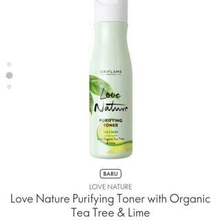 Love Nature Purifying Toner with Organic Tea Tree & Lime
