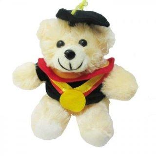Spicegift Teddy Bear Toga Merah Boneka Wisuda