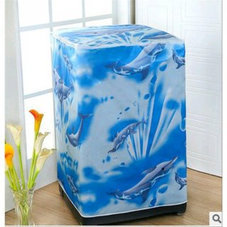 Sarung Cover Mesin Cuci Top Loading Buka Atas Bahan Satin Tebal Anti Air Anti Panas