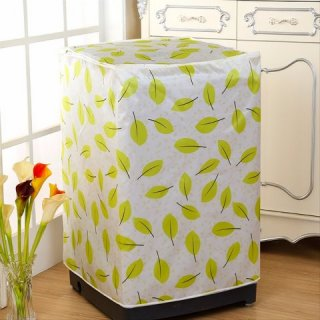Homestuff Daun Type A Cover Mesin Cuci Buka Atas - Hijau