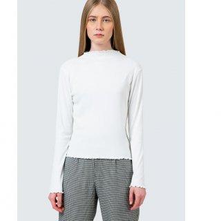 Colorbox Off White Rib Long Sleeve Tshirt