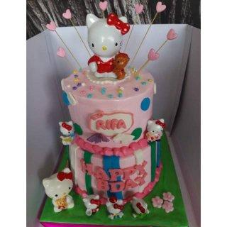 Kue Ulang Tahun Hello Kitty / Cake Ultah Hello Kitty