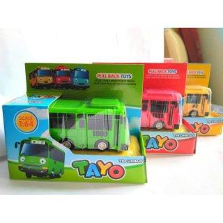 Mainan Anak Little Bus Tayo Pullback 4Pcs