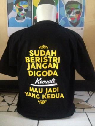 Kaos/T-shirt/Baju Unik Sudah Beristri Jangan Digoda