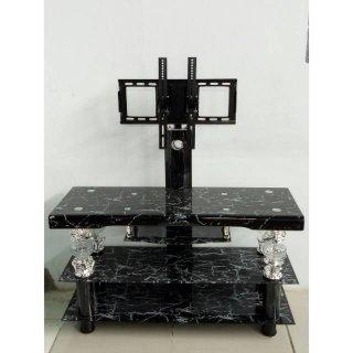 Lemari Rak TV Aluminium Kaca