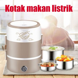 Electric Lunch Box 2 Layer Kotak Bekal Multifungsi