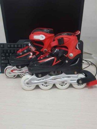 Sepatu Roda Model Bajaj Inline Skate Dewasa Lampu Roda Depan Nyala