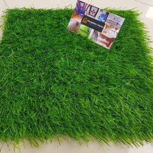 Rumput Palsu, Rumput Sintetis Full Hijau 25 cm x 25 cm 10 mm- Artificial Grass