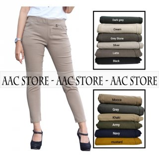 Elizabeth Pants / Chino Pants Wanita Bahan Tebal Stretch