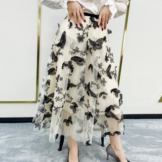 Tutu Maxi Skirt ButterFly Embroidery