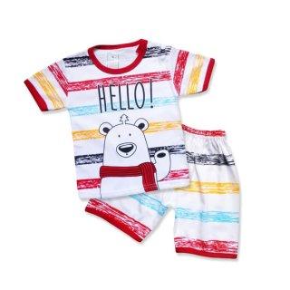 WakaKids Baju Bayi Anak Laki Laki hello bear