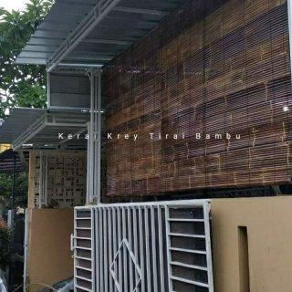 Tirai Bambu Hitam Outdoor