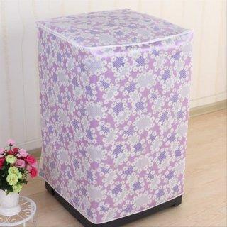 Bukaan Atas Top Loading Sarung Cover 1 Tabung Penutup Mesin Cuci Flower