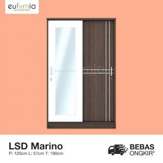 Olympic Lemari Sliding / Lemari Pakaian Cermin / LSD MARINO