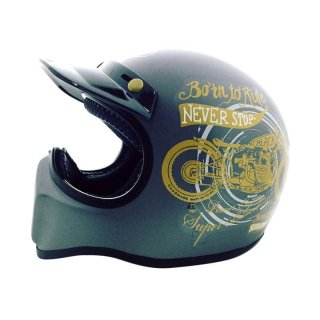 Helm Full Face HBC Cakil Born to Ride