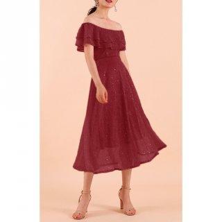 Model Off Shoulder Dress
