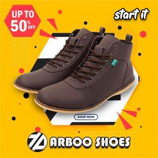 Sepatu Sneakers Boots Kickers Brodo Pria Casual Tinggi Boot
