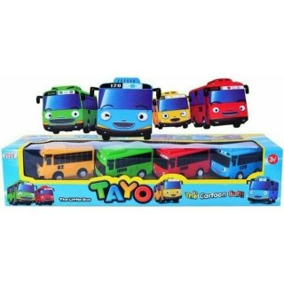 Tayo The Little Bus Set Pullback Action Isi 4