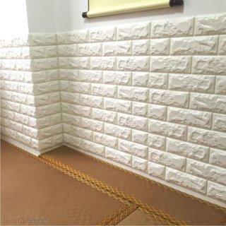 Wallpaper Dinding Foam Brick Korean Style 3D Motif Bata Timbul Merah