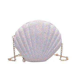 Tas Selempang Sequin Glitter Bentuk Kerang