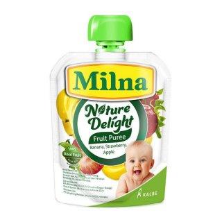 Milna Nature Delight Fruit Puree Banana Strawberry Apple