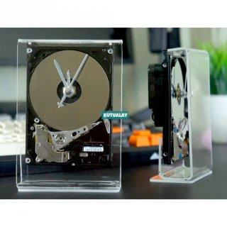 Jam Meja Hardisk HDD Clock Sweep Movement