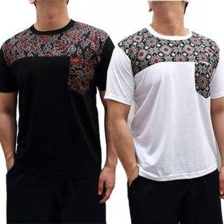 Big Size Batik Pocket Tee XXL - XXXL | Unisex | Kaos Batik Fusion