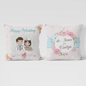 Bantal Sofa Custom Wedding Profesi