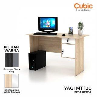 Cubic Meja Kantor Minimalis / Meja Kerja / Meja Belajar / YAGI MT 120