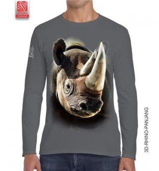 Kaos 3D Rhino Panjang Big Size Dewasa
