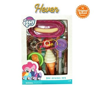 Happy Toon NB-03892 My Little Pony Ice Cream Set Mainan Es Krim Scoop