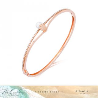 Gelang Emas Mutiara The Caribbea Shells Pearl Bangle - Atlantis Series