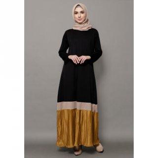 Mybamus Anandya Mix Plisket Dress Black M15243 R60S2