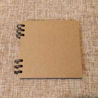 Blank Kraft Notebook (S) Bahan Daur Ulang