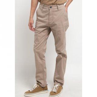 TRIPLE Celana Chinos Stretch Slim Fit Light Khaki