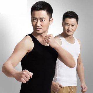 Men Classic Slim Fit Tank Top Singlet Kaos Dalam Pria Katun Import