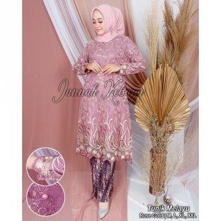 Set Tunik Pesta Mewah Azura by Jannah Kebaya