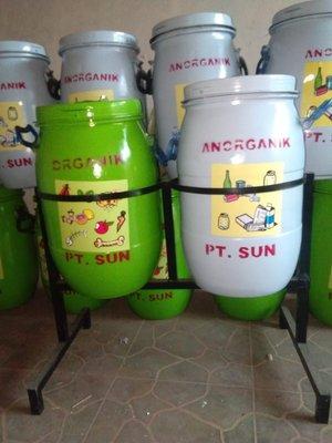 BEST SELLER Tong Sampah Drum Besar 2 Tong Sampah Organik Anorganik Tempat Sampah Drum Besar Organik