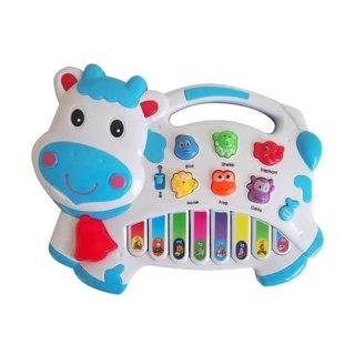 Mainan Musik Piano Sapi Lucu