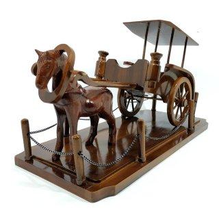 Kerajinan Kayu Miniatur Delman Dokar Andong Kereta Kuda