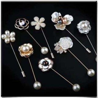 Bros Bentuk Bunga Aksen Berlian Imitasi Gaya Korea untuk Wanita