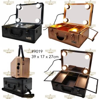 EVELINE Beauty case / tempat makeup / kotak kosmetik kaca lampu 019
