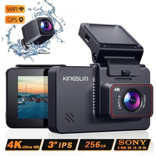 Kingslim D4 Car DVR Camera 1080P 4K Dual DashCam