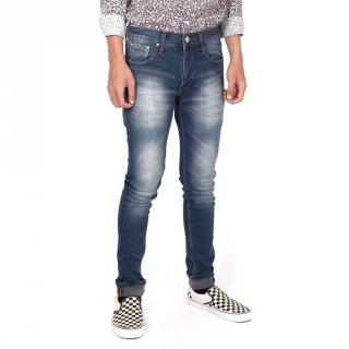 Superego - Celana Jeans Stretch/Lentur/Melar Pria Slim Fit Blue Sprey Green Washed SLJ03H