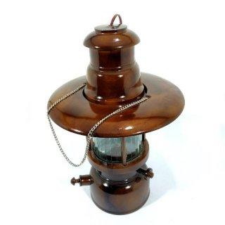 Lampu Petromak Listrik Dari Kerajinan Kayu Jati Asli