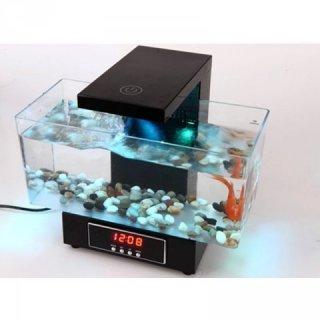Desktop Aquarium Akuarium Fish Tank USB 2013-D