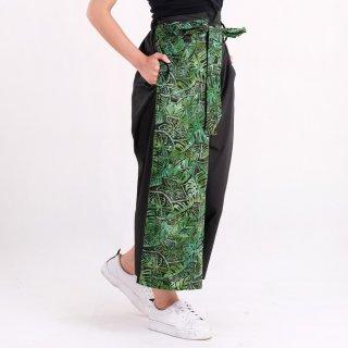 Batik Pria Tampan - Celana Kulot Belt Abs Palm Caladium Leaf