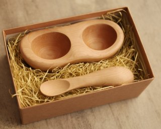 離乳食スタート時に役立つ木製食器